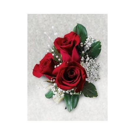 mothers triple rose corsage