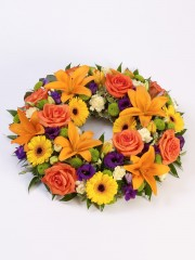 Rose and Lily Wreath - Vibrant