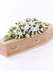 Lily Casket Spray - White