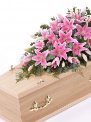 Lily Casket Spray - Pink