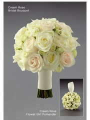 Cream Rose Bridal Bouquet