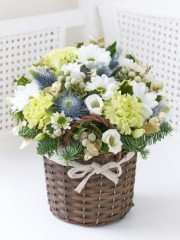 Petite Winter Basket with Chocolates